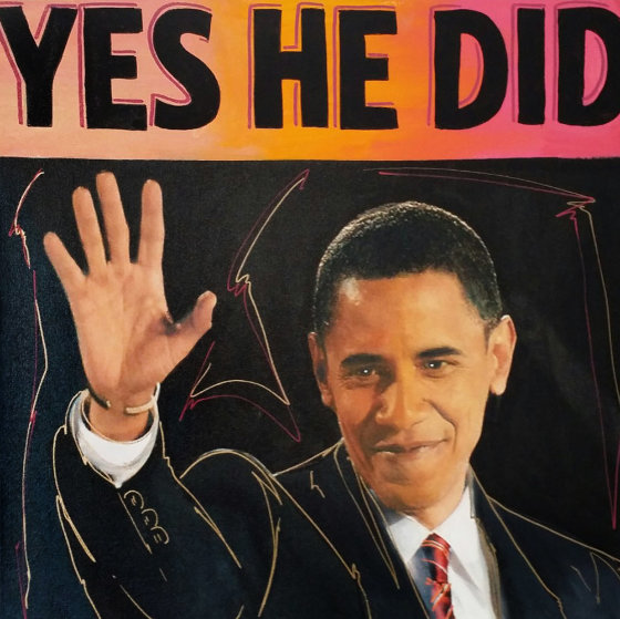 Barack Obama Yes He Did Unique 20x20
