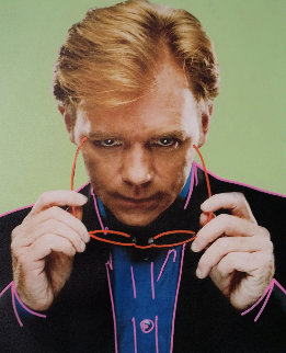 David Caruso Unique 2007 24x20 Original Painting - Steve Kaufman