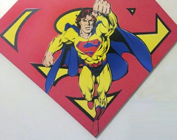 Superman Sheild Yellow on Red AP 1995 Limited Edition Print - Steve Kaufman