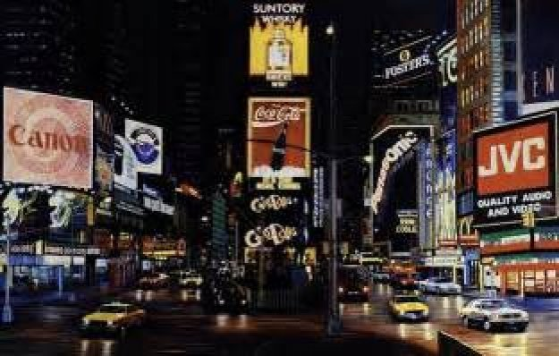 Times Square Night - Way It is AP 1995