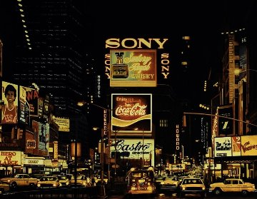 Times Square Change Scene 1995 Limited Edition Print - Ken Keeley