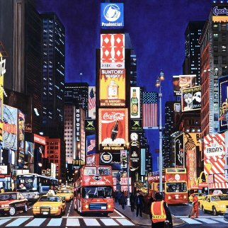Times Square At Night AP Limited Edition Print - Ken Keeley