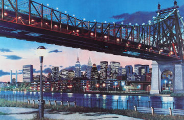 59th Street Bridge, New York Limited Edition Print - Ken Keeley
