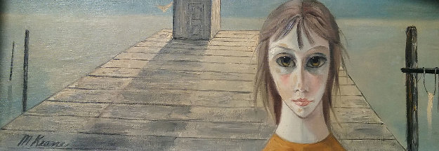 Untitled (Girl On Pier) 10x24 (Big Eyes) early 1970