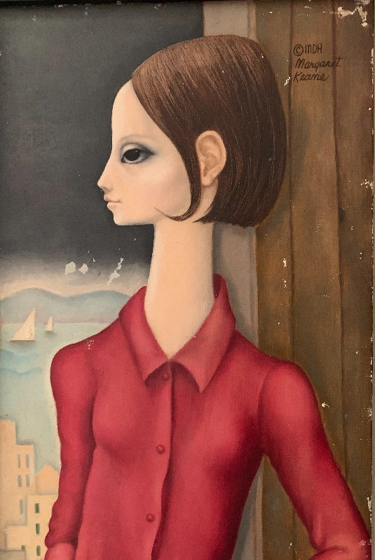 Untitled Portrait  of a Woman 1963 16x18 (big Eyes)