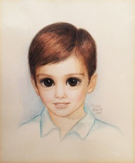 Young Matthew (Big Eyes) 1987 19x20 (Big Eyes) Works on Paper (not prints) - Margaret D. H. Keane