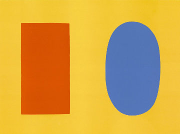 Orange and Blue Over Yellow 1964 Limited Edition Print - Ellsworth Kelly