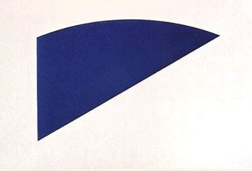 Blue Curve 1981 Limited Edition Print - Ellsworth Kelly