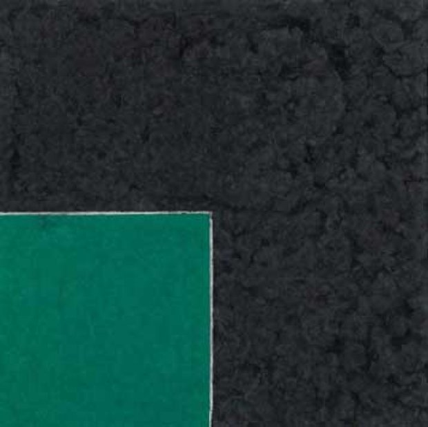 Colored Paper Image XVIII (Green Square With Dark Grey): Axsom Cat. #158 1976