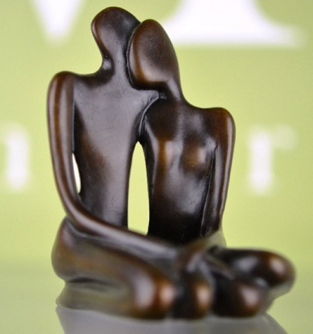 Lovers Maquette   Sculpture  Bronze 1997 8 in