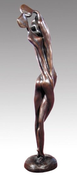 Lovers Duet Bronze Sculpture 1992 31 inches