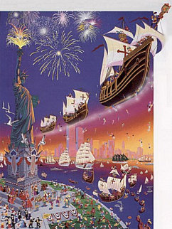 Christopher Columbus 500th Anniversary 1992 Limited Edition Print - Melanie Taylor Kent