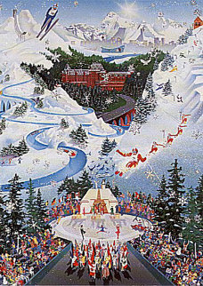 Let the Winter Games Begin (1988 Winter Olympics) AP Limited Edition Print - Melanie Taylor Kent