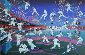 Dodger Stadium  30 Years of Memories 1993 with Remarque Limited Edition Print - Melanie Taylor Kent