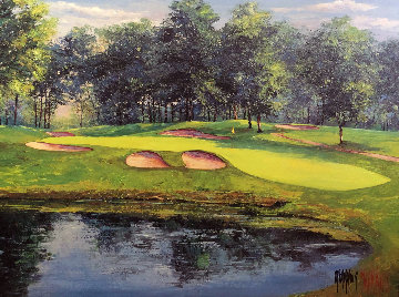 Mastering the 17th Hole Limited Edition Print - Mark King