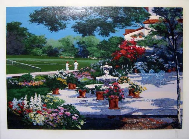 Tennis landscape 1989 by mark king for Landscape limited