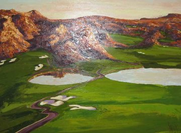 Wolf Creek Golf Course #1, hole #8 and #9 2008 Original Painting - Mark King