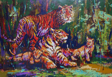 Bengal Family AP 1970 Limited Edition Print - Mark King
