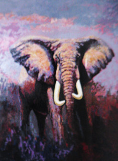 Lone Tusker 1991 Limited Edition Print - Mark King