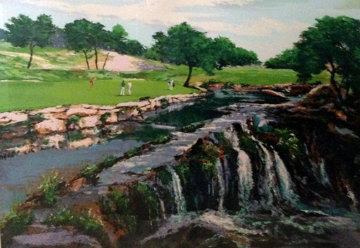 Hills of Lakeway, Austin Texas (Golf) 1991 Limited Edition Print - Mark King