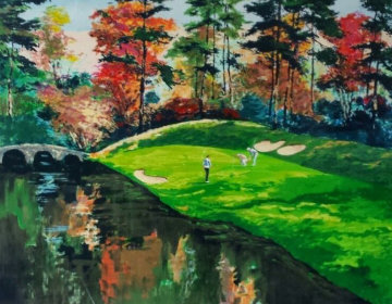 Augusta 12 in Fall (Golf Series III) 1991 Limited Edition Print - Mark King