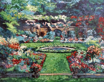 Summer Rose Garden 1990 Limited Edition Print - Mark King