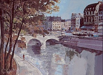 St Michel (Paris) 1987 Limited Edition Print - Mark King