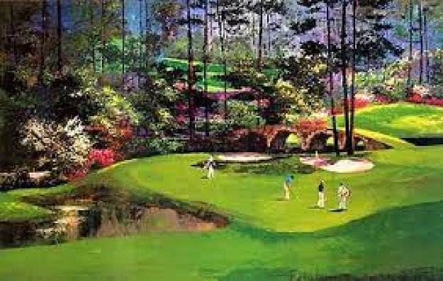augusta hole 11 ap 1989 by mark king. Black Bedroom Furniture Sets. Home Design Ideas