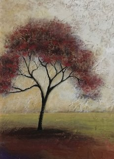 Red Tree 2003 22x18 Original Painting - Mike Klung