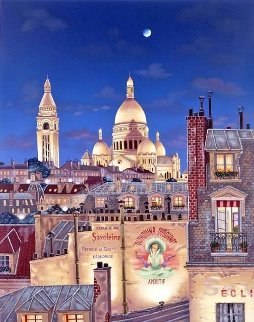 Rooftops of Paris Suite: Paris Evening 2000 Limited Edition Print - Liudimila Kondakova