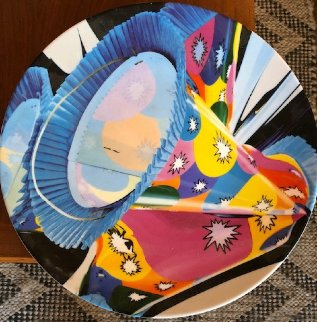Party Hat   Ceramic Plate 1985 13 in Limited Edition Print - Jeff Koons