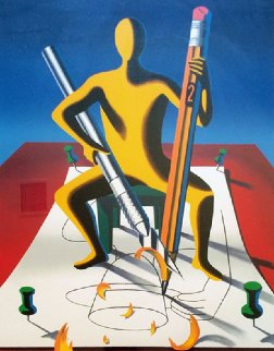 Careful With That Axe Eugene 2001 Limited Edition Print - Mark Kostabi