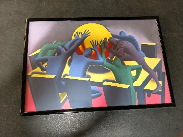Earth Inc 1990 Limited Edition Print - Mark Kostabi