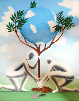 Give Leaves a Chance 1990 Limited Edition Print - Mark Kostabi