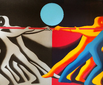 Tug of War 1990 Limited Edition Print - Mark Kostabi