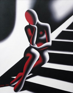 Upwardly Mobile, Seated Female Nude, Upwardly Seated Female Nude, Suite of 3 Prints 1989 Limited Edition Print - Mark Kostabi