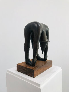 Body By Jake Bronze Sculpture 1989 10 in  Sculpture - Mark Kostabi