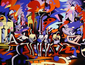 Midnight At Noon 2015 3-D  Limited Edition Print - Mark Kostabi
