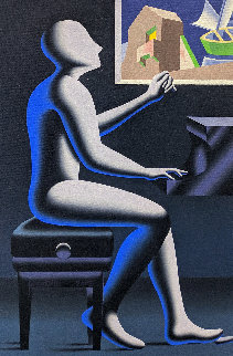 Architecture of Sound 2005 24x16 Original Painting - Mark Kostabi