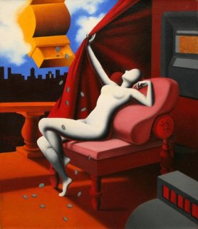 Spread the Wealth 2011 Original Painting - Mark Kostabi
