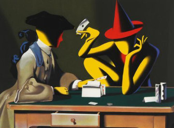 Chance Encounter 2001 Limited Edition Print by Mark Kostabi