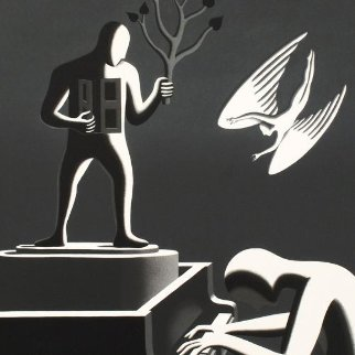 Cyclone Variations Limited Edition Print - Mark Kostabi