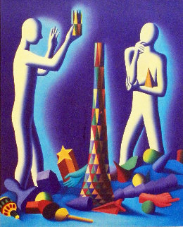 Perfect Pitch 1991 Limited Edition Print - Mark Kostabi