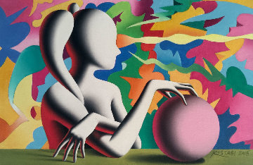Channeling the Infinite 2015 8x12 Original Painting - Mark Kostabi