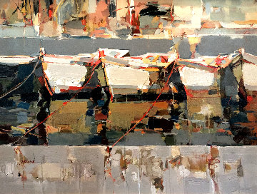 Together Again 38x50 Original Painting - Josef Kote