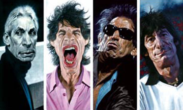 Rolling Stones: The 40 x 40 Suite of 4  2007 Limited Edition Print - Sebastian Kruger