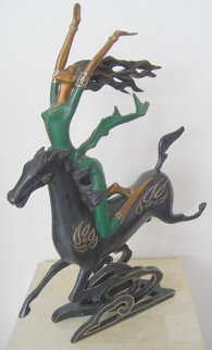 Superhorse Bronze Sculpture AP 1991 Sculpture - Shao Kuang Ting