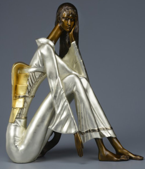 Beautiful Dreamer Bronze Sculpture 2014 22 c gold