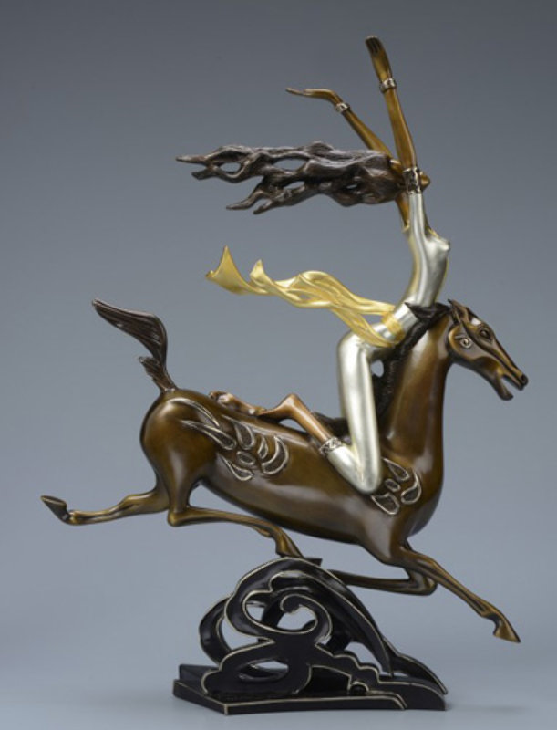 Super Horse Bronze Sculpture 2014 22 c gold