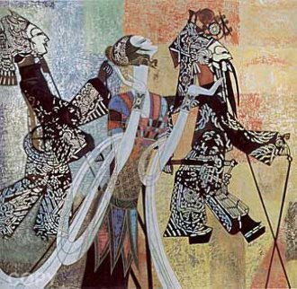 Shadow Play 1992 Limited Edition Print - Shao Kuang Ting